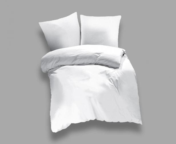 Povlečení UNI bílé Jednolůžko - standard, přikrývka: 1ks 140x200 cm, polštář: 1ks 90x70 cm, gramáž: 118 g/m2 bavlna