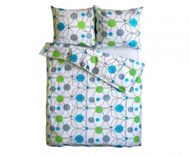 Povlečení Vital modrozelené Jednolůžko - standard, přikrývka: 1ks 140x200 cm, polštář: 1ks 90x70 cm, gramáž: 120 g/m2 Bavlna