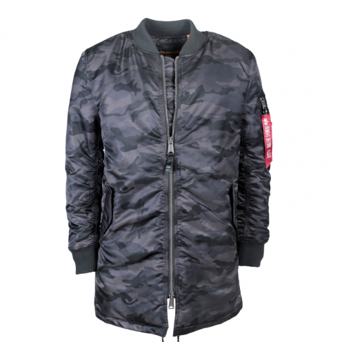 Alpha Industries MA-1 Coat Kabát Black Camo