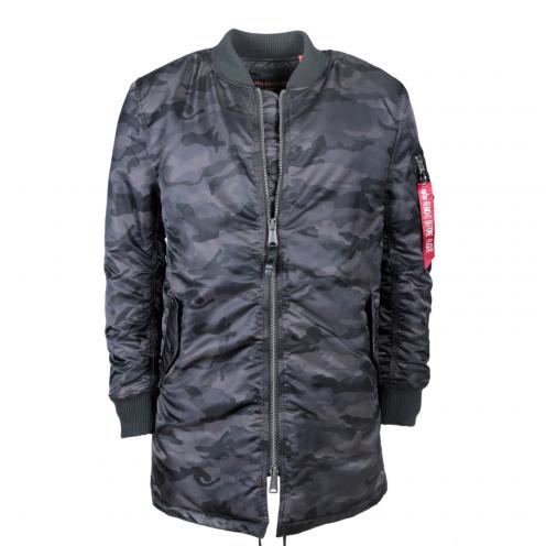 Alpha Industries MA-1 Coat Kabát Black Camo