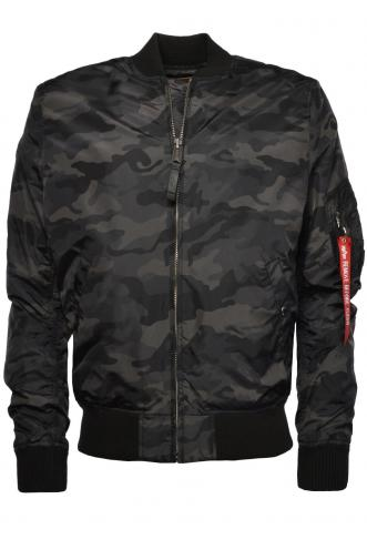Alpha Industries MA-1 TT Bomber Bunda Black Camo