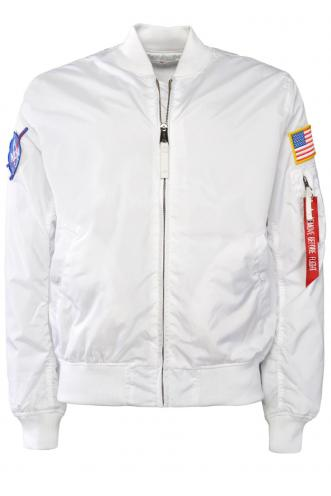 Alpha Industries NASA MA-1 TT Bílá Bomber Bunda