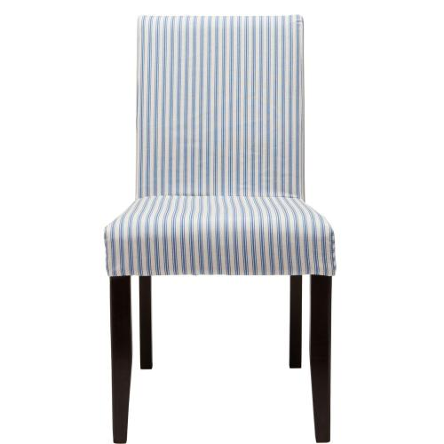 COPPERFIELD Povlak na židli úzké pruhy - modrá/bílá