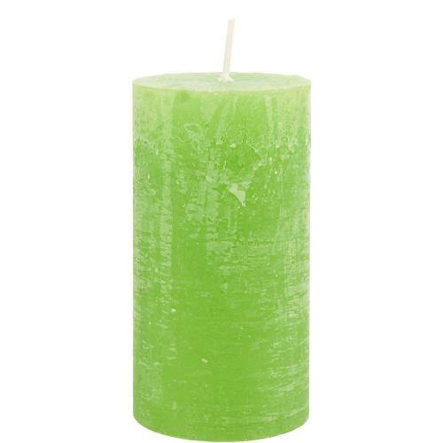 RUSTIC Svíčka 13 cm - zelená