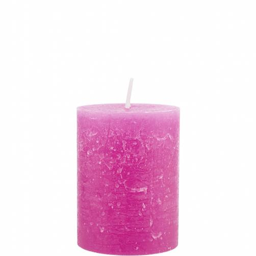 RUSTIC Svíčka 9cm - růžová