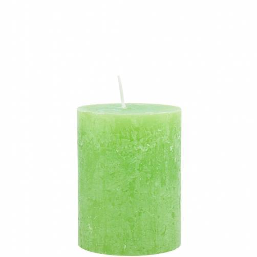 RUSTIC Svíčka 9cm - sv. zelená