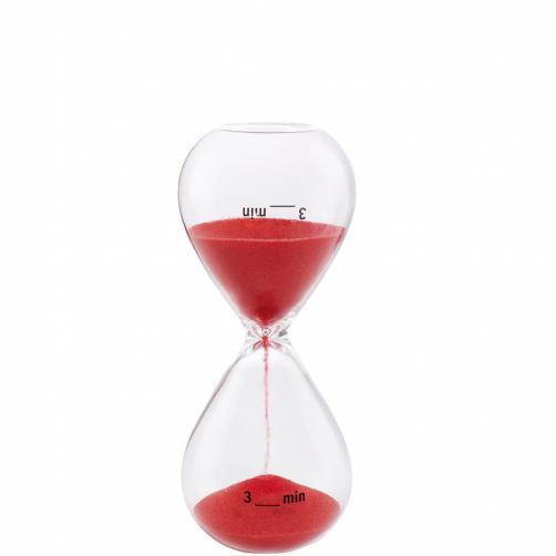 3 MINUTES Přesýpací hodiny 3 minuty - červená
