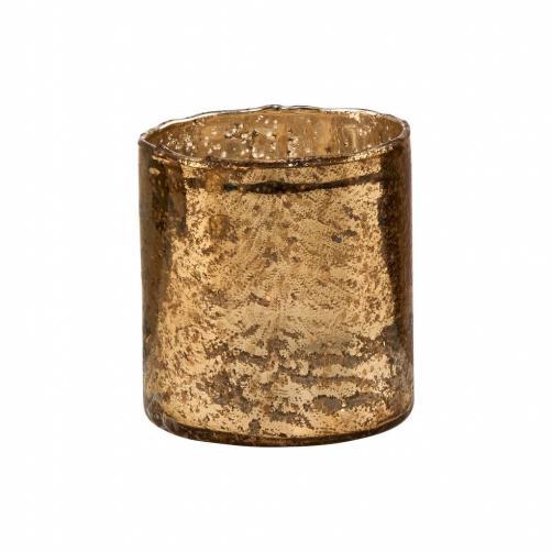 DELIGHT Skleněný votivní svícen 8 cm - zlatá
