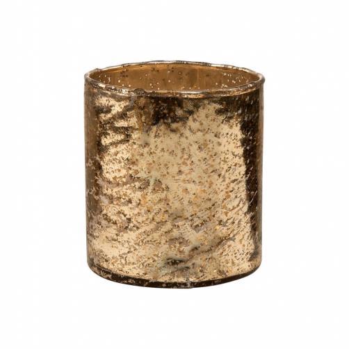 DELIGHT Skleněný votivní svícen 10 cm - zlatá