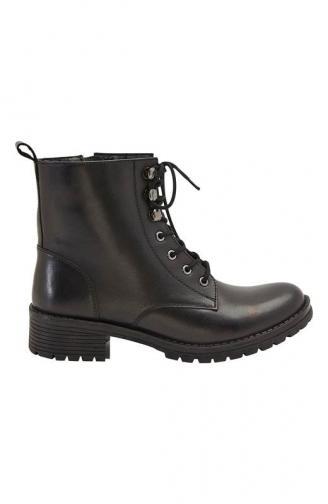 Kožená vysoká obuv / černá