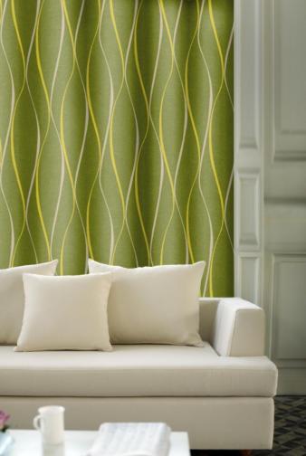 Forbyt, Dekorační závěs, OXY Vlnky tunýlkem, zelený 150