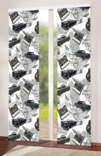 Forbyt, Dekorační závěs, OXY Auta s tunýlkem, šedý 150