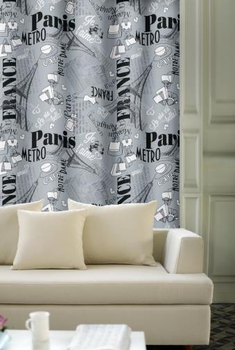 Forbyt, Dekorační závěs, OXY Paris s tunýlkem, šedý 150