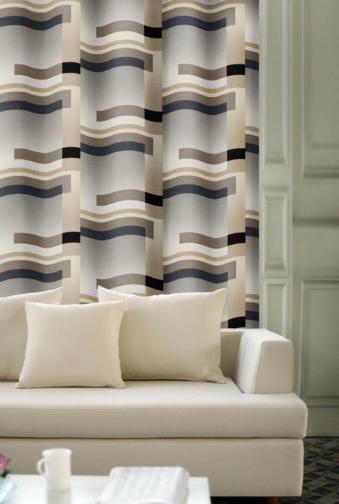 Forbyt, Závěs dekorační, OXY Hawaii 2, hnědo-šedý, 150 cm