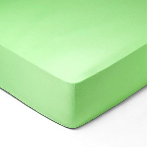 Forbyt, Prostěradlo, Jersey, světle zelená 70 x 140 cm