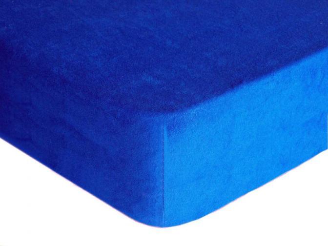 Forbyt, Prostěradlo, Froté Premium, tmavě modrá 70 x 140 cm