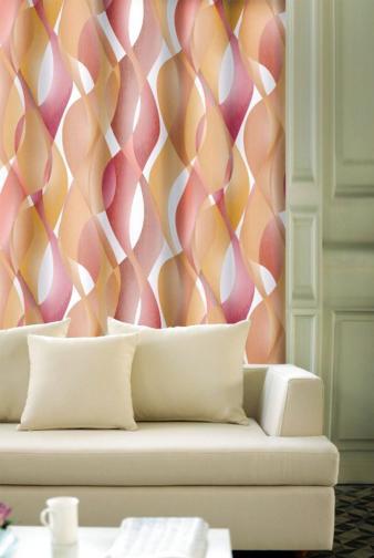 Forbyt, Závěs dekorační, OXY Hawaii 2, oranžovo-bordový, 150 cm