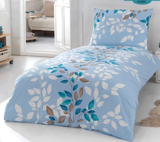 Forbyt Povlečení  - Nina modrá - bavlna exkluziv 200x140, 90x70 140 x 200 cm + 70 x 90 cm
