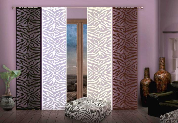 Forbyt, Zavěsové panely, Zebra 50 x 240 cm černá