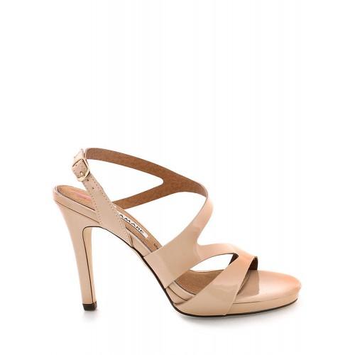 MARIA MARE Béžové sandály na podpatku MARIA MARE
