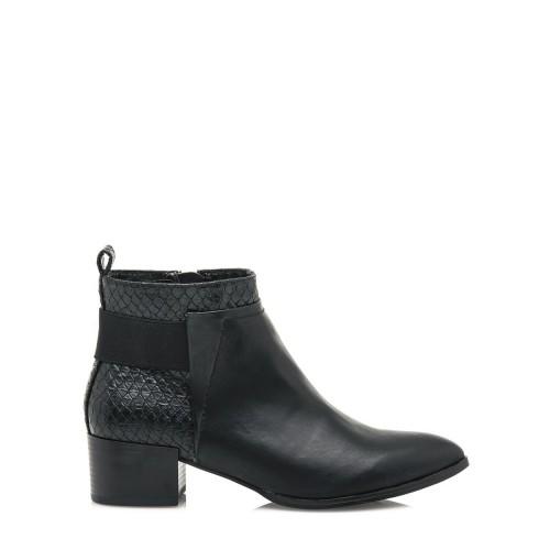 MARIA MARE Černé elegantní boty na podpatku Maria Mare
