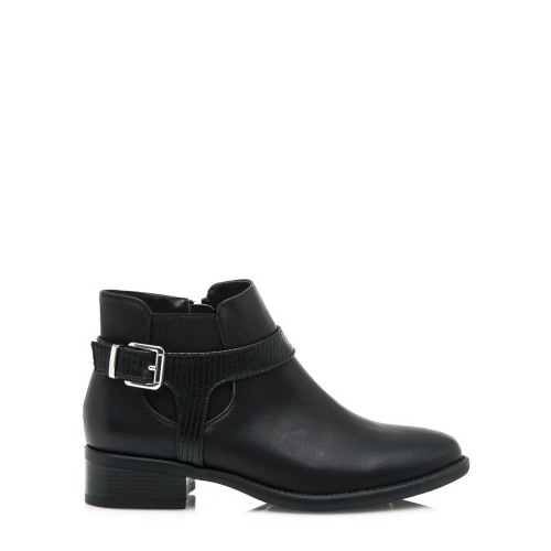 MARIA MARE Černé kotníkové boty s řemínkem a vsadkou Maria Mare