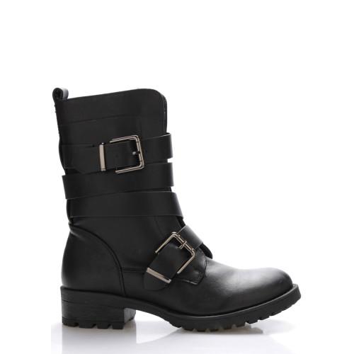 Monshoe Černé pevné kotníkové boty Monshoe