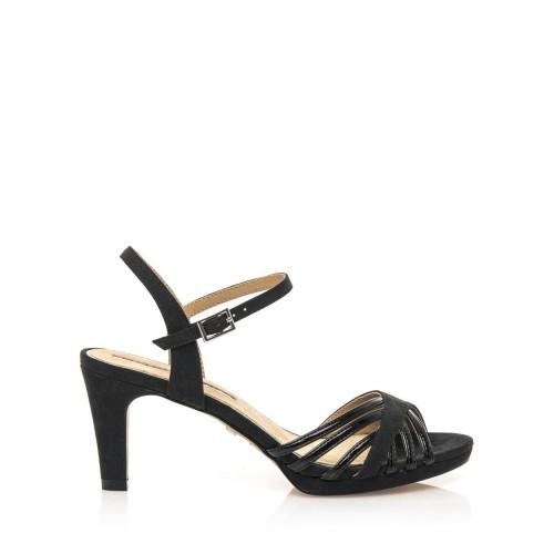 MARIA MARE Černé sandály na nízkém podpatku Maria Mare