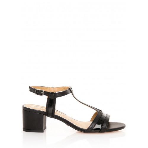 MARIA MARE Černé sandály na širokém podpatku MARIA MARE