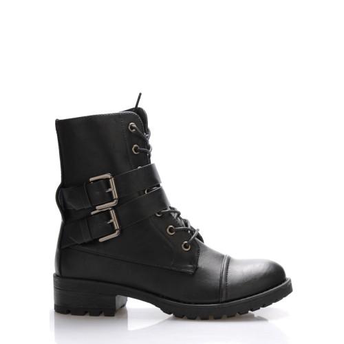 Monshoe Černé vysoké kotníkové boty Monshoe