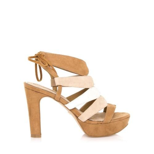 MARIA MARE Hnědé extravagantní sandály Maria Mare