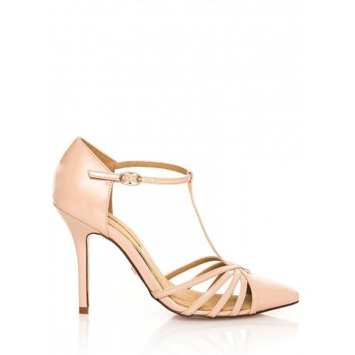 MARIA MARE Béžové sandály na jehlovém podpatku MARIA MARE