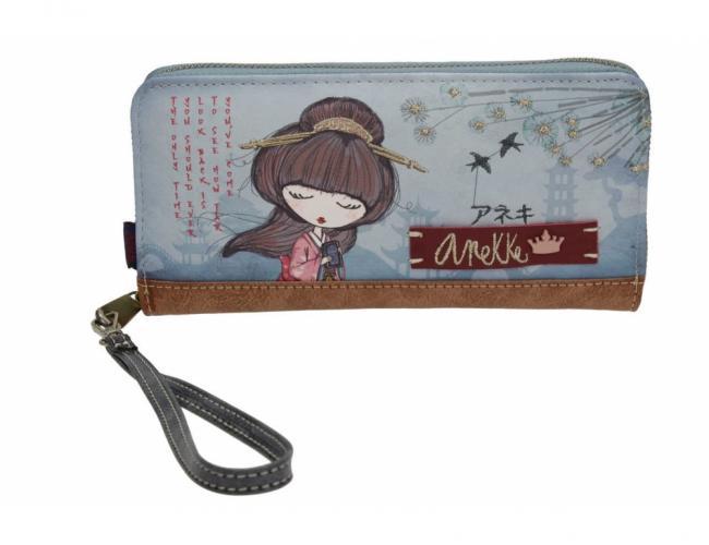 Anekke modrá prostorná peněženka Meraki
