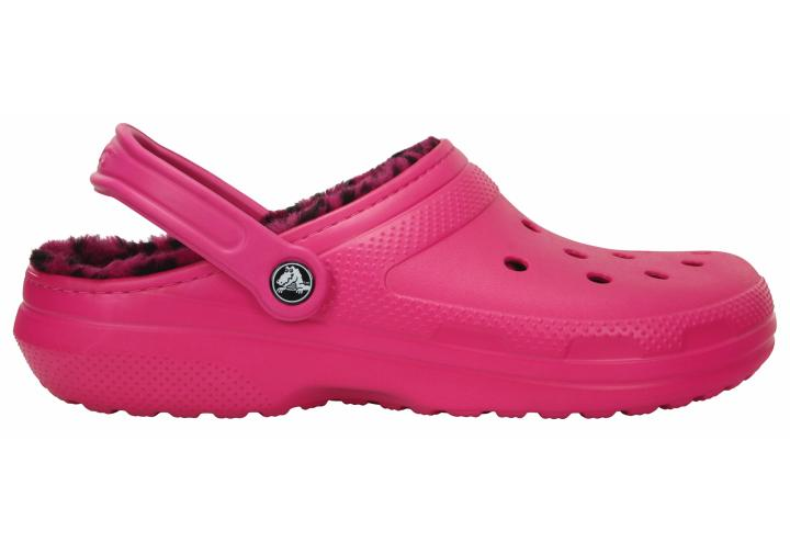 Crocs růžové pantofle Classic Lined Pattern Clog Candy Pink