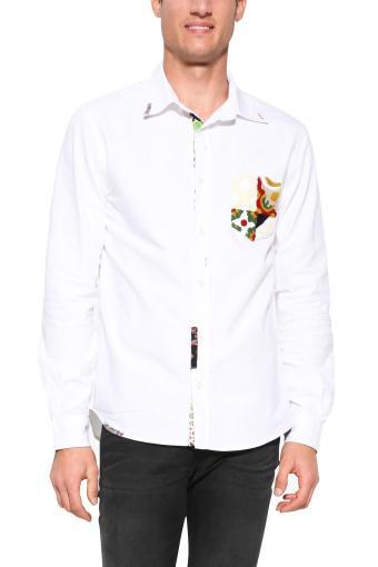 Desigual bílá pánská košile Aleix
