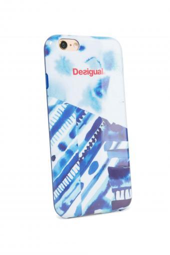 Desigual modrý kryt na iPhone 6 Silicona Splash
