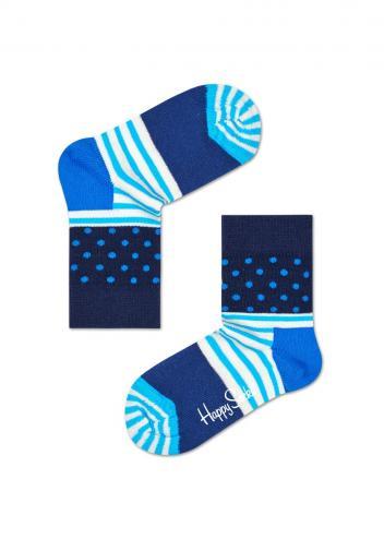 Happy Socks modré dětské ponožky Stripe Dot