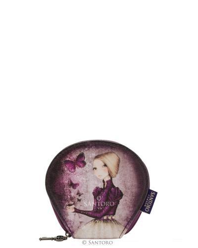 Santoro fialová klíčenka Mirabelle Amethyst Butterfly