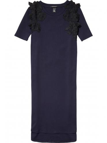 Scotch&Soda tmavě modré dlouhé šaty Lace