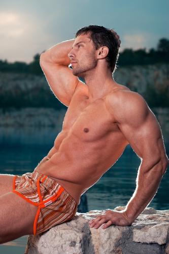 Alpha Male plavky Imago orange M