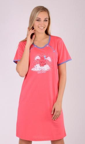 Dámská noční košile mateřská Slůně tyrkysová XL