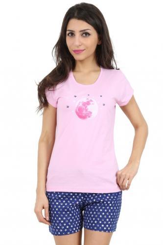 Bavlněné dámské pyžamo Moonstar M