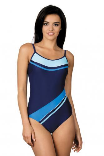 Dámské jednodílné plavky Nena tmavě modrá tyrkysová S 1be0a06263