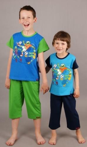 Dětské pyžamo kapri Žáby s míčem modrá 3 4