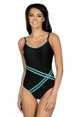 Dámské jednodílné plavky Stripes černé S 69b6d59909