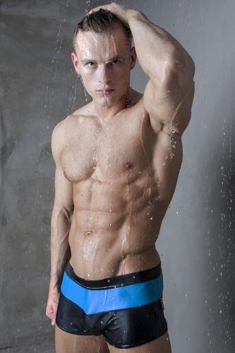 Alpha Male plavky Treso blue XXL