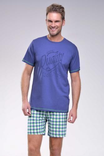 Krátké pánské pyžamo František tmavě modré M