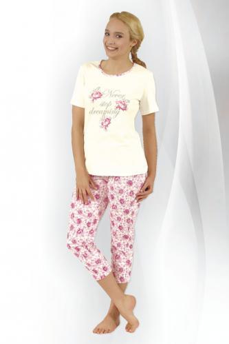 Dámské pyžamo Rosie růžičky L