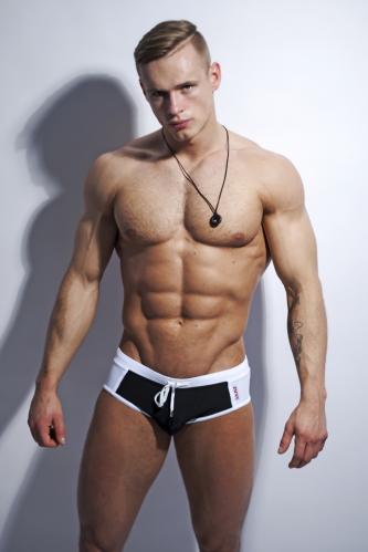 Alpha Male plavky Brevo black XXL