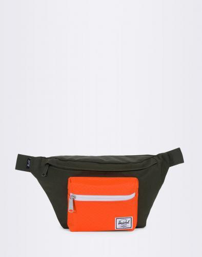 Ledvinka Herschel Supply Seventeen Forest Night / Vermillion Orange